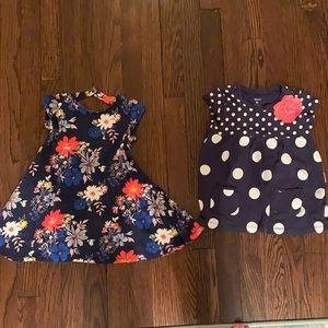 3T navy dress and polka dot shirt